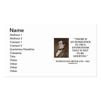 Entusiasmo verdadeiro de Washington Irving para Cartão De Visita