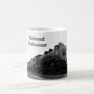 Entusiasta da estrada de ferro caneca de café