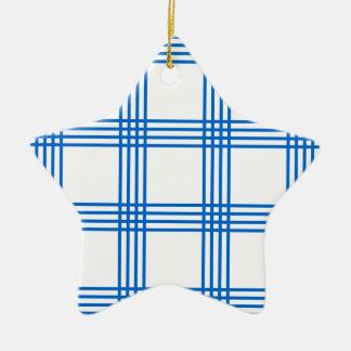 Envelope azul da cozinha ornamento de cerâmica estrela
