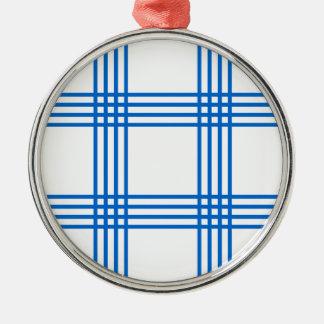 Envelope azul da cozinha ornamento redondo cor prata