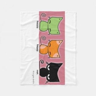 Envoltório você mesmo com gatinhos de cobertor de lã