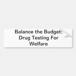 Equilibre o orçamento adesivo para carro