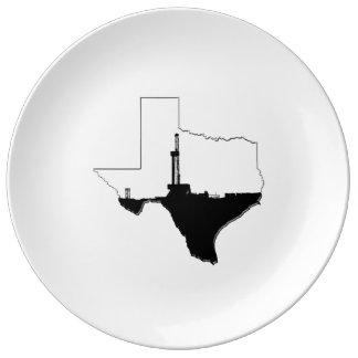 Equipamento do estado do Texas e de perfuração Prato De Porcelana