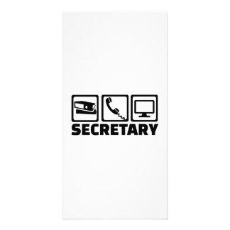 Equipamento do secretário cartão com foto