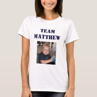 Equipe Matthew - fêmea adulta Camiseta