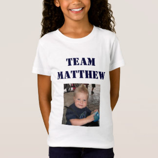 Equipe Matthew - menina Camiseta