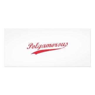 Equipe Polyamory Polyamorous e orgulhoso 10.16 X 22.86cm Panfleto