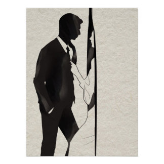 Equipe ser puxado no poster da ilustração da sala