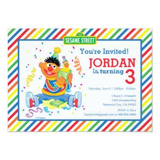 Ernie listrou o aniversário convite 12.7 x 17.78cm