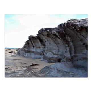 Erosão na praia cartão postal