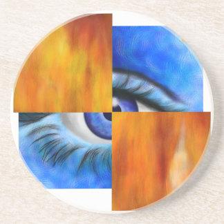 Ersebiossa V1 - olho escondido sem traseiro Porta Copos De Arenito