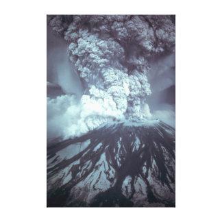 Erupção de Mount Saint Helens Stratovolcano 1980 Impressão Em Tela