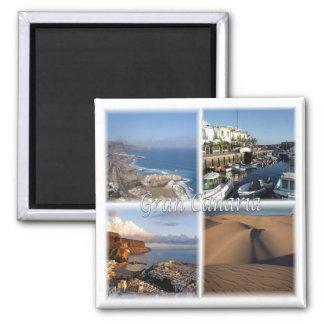 ES * Espanha - Gran Canaria - Ilhas Canárias Ímã Quadrado