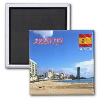 ES - Espanha - Lanzarote - Arrecife Ímã Quadrado
