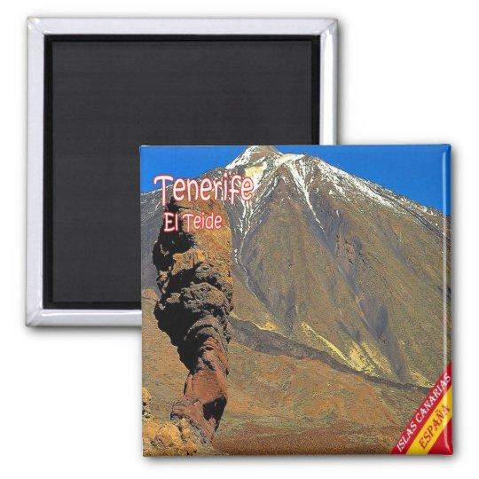 ES - Espanha - Tenerife - EL Teide Ímã Quadrado