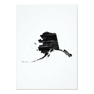 Esboço afligido do estado de Alaska Convite 12.7 X 17.78cm