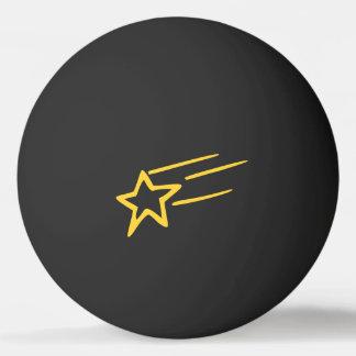 Esboço amarelo da estrela de tiro na bola preta