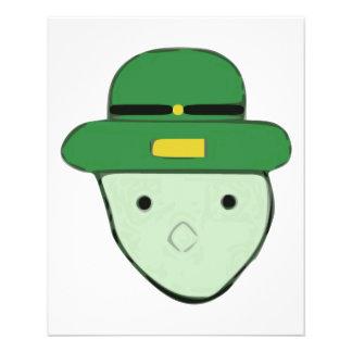 Esboço colorido verde Meme do Leprechaun Flyer 11.43 X 14.22cm