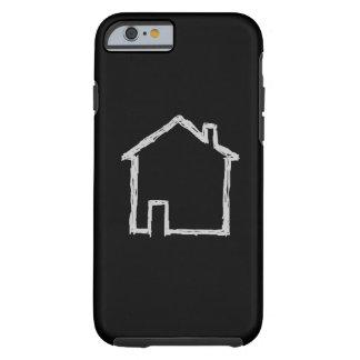 Esboço da casa. Cinzas e preto Capa Tough Para iPhone 6