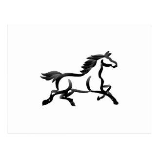 Esboço do cavalo cartão postal