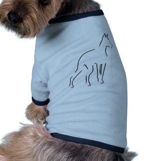 Esboço do Doberman Roupas Para Pets