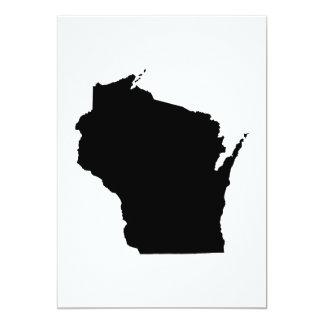 Esboço do estado de Wisconsin Convite 12.7 X 17.78cm