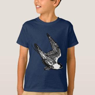 Esboço do falcão de peregrino t-shirts