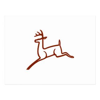 Esboço dos cervos cartão postal