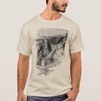 Esboço preto e branco dos piratas do vintage, camiseta