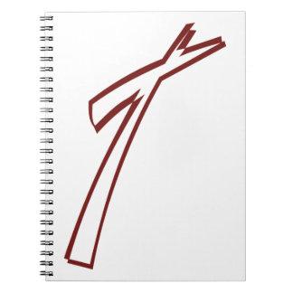Esboço transversal abstrato cadernos espiral