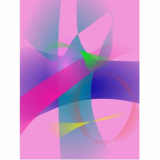 Esboços bem defenidos abstratos cor-de-rosa esculturafotos