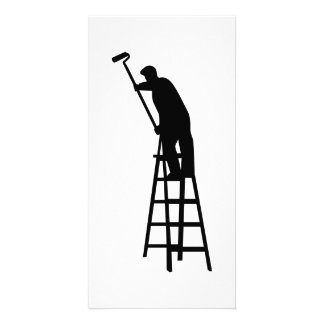 Escada do pintor cartão com foto