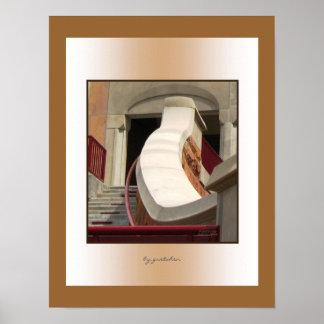 Escadaria de pedra abaixo do poster da foto da arc