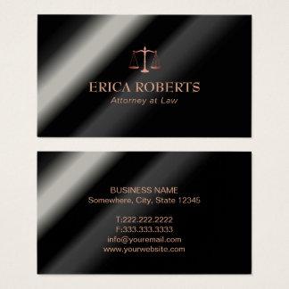 Escala cor-de-rosa do ouro do advogado do advogado cartão de visitas