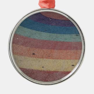 Escala desvanecida do arco-íris ornamento redondo cor prata