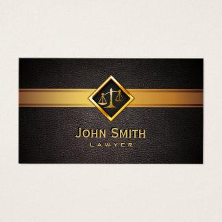 Escala do ouro de Professionl do advogado do Cartão De Visitas