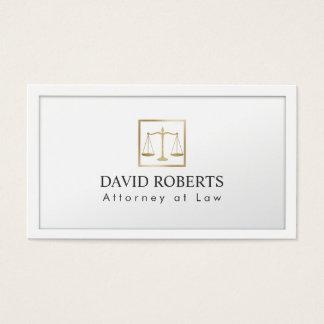 Escala do ouro do advogado do advogado do branco cartão de visitas
