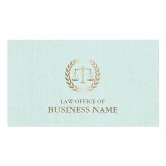 Escala do ouro do advogado do advogado do linho cartão de visita