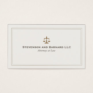 Escala tradicional de justiça do advogado cartão de visitas