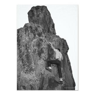 Escalada do homem convite 12.7 x 17.78cm