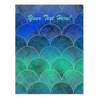 Escalas abstratas da sereia, seu texto aqui! cartão postal