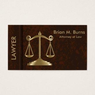 Escalas da lei | de justiça | customizável cartão de visitas