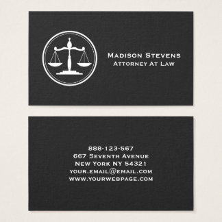 Escalas de justiça do advogado do advogado cartão de visitas