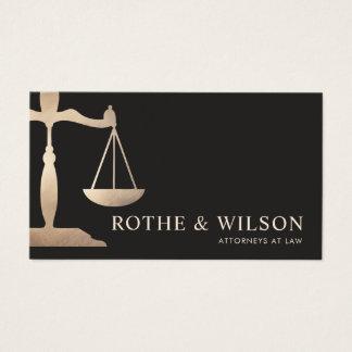 Escalas do advogado do ouro de justiça Brown Cartão De Visitas