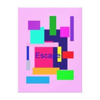 Escape Impressão De Canvas Esticada