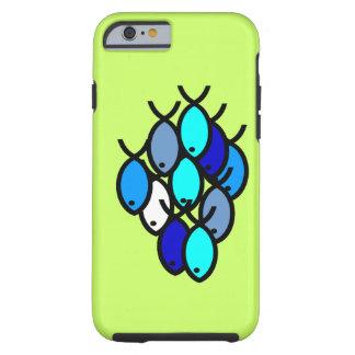 Escola de símbolos cristãos dos peixes - azul - capa tough para iPhone 6