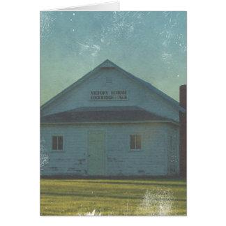 Escola Lockridge da vitória, Iowa Cartão