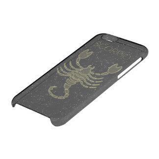 Escorpião brilhante capa para iPhone 6/6S clear