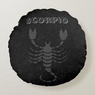 Escorpião translúcida almofada redonda