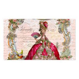 Escrita francesa do roteiro e Marie Antoinette Cartão De Visita